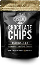 Sugar Free Large Chocolate Chips, Stevia Sweetened, 12 oz. Value Size, Non-GMO, Vegan, Keto, Low Carb, 60% Cocoa, All Natural, Baking Chips, Gluten Free, No Sugar Added (1 Pack)