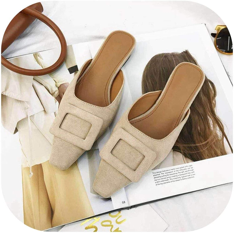 Flip Flops Slides Slip On Casual shoes Elegant Sandals Ladies shoes Female Flip Flops,Khaki,7.5