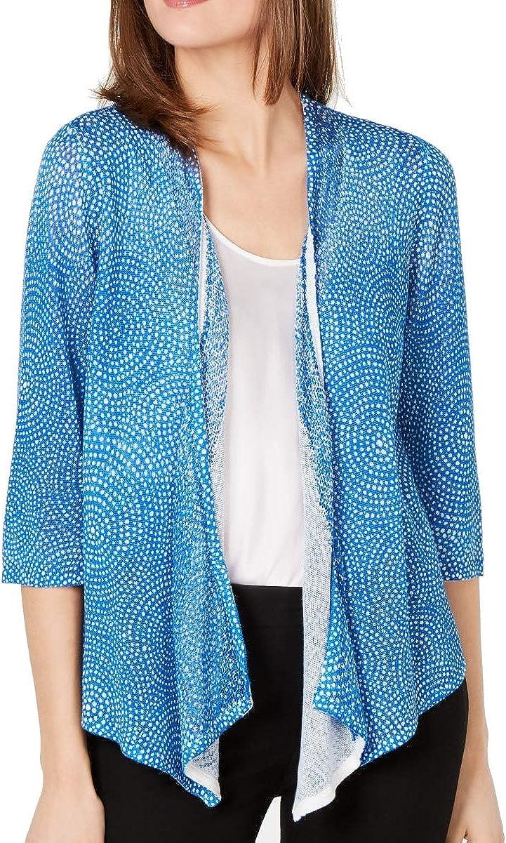Alfani Womens Linen Blend Open Front Cardigan Sweater