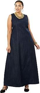 84aaf7237f2 Jessica London Women s Plus Size Denim Maxi Dress
