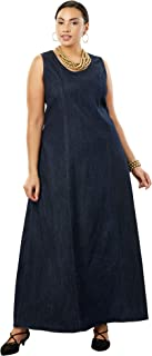 Best plus size denim maxi dress Reviews