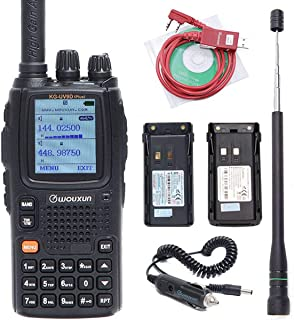 Wouxun KG-UV9D Plus 7 Bands Reception(Including Air Band Dual Band Transmission) Cross Band Repeater Ham Two Way Radio with 2 Batteries (2000/3200mAh) ,Antenna, USB Program Cable and car Charger