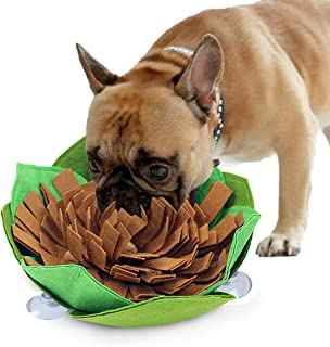 Kingtree Dogs Feeding Bowl Creative Snuffle Mat for Dog, Anti-Slip Maze Food Bowl for Slow Feeding and Sniffing Training Good for Pets Health and Releasing Pressure, Pet Treat Dispenser Washable