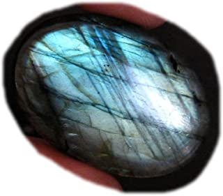 RASIO Cabujón de labradorita llamativo, forma ovalada, hermoso cabujón de diseñador, piedra preciosa labradorita natural, ...