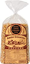 Amish Country Popcorn - Extra Large Caramel Kernels (2 Pound Bag) - Old Fashioned, Non GMO, and Gluten Free- with Recipe Guide
