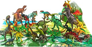 Fun Central 40 Pieces - Educational Realistic Dinosaurs Figurine Toys for Boys - Includes T-Rex, Triceratops and etc