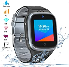 Vowor 4G Smartwatch for Kids with Sim Card, Waterproof Phone Watch with WiFi LBS GPS Tracker Video Chat SOS Camera Alarm Clock Anti Lost Watches Children Boys Girls Birthday Gift Age 3-15 (Black)