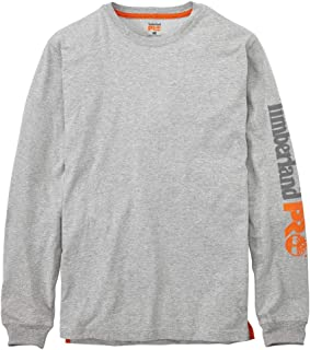 Timberland PRO Men's Base Plate Blended Long-Sleeve T-Shirt with Logo (Big/Tall), Light Grey Heather, 4XL