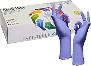 Infi-Touch Nitrile Disposable Gloves Nitrile Gloves Powder Free - Hypoallergenic, 12