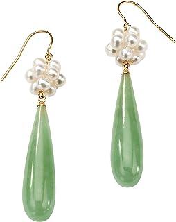 Natural Jade Earrings burmese jadeite green teardrop gemstone earring genuine vintage burma jade drops 925 sterling silver jewelry