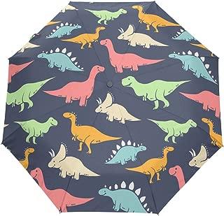 gaopeng Compact Sun and Rain Travel Umbrella Dinosaur Outdoor Auto Open Close Folding Umbrellas