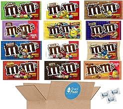 M&M's Ultimate Variety Snack Peak Gift Box – Almond, Coffee Nut, Crispy, Fudge Brownie, English Toffee Peanut, Peanut Butt...