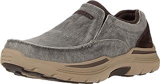 Skechers Men's Expended-Relfen Slip on Canvas Loafer