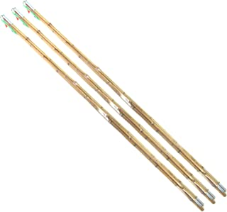 BambooMN Bamboo Vintage Cane Fishing Pole with Bobber, Hook, Line and Sinker