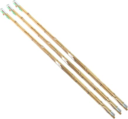 BambooMN Bamboo Vintage Cane Fishing Pole with Bobber,...