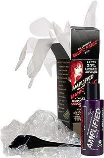Manic Panic Purple Haze Amplified Hair Coloring Kit - Vegan Semi-Permanent Purple Hair Dye Cream - 3X Pigments & Lasts 30% Longer Than Classic Voltage (6-8 Weeks) - PPD & Ammonia-free