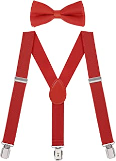 Kids Suspender Bow Tie Set For Toddler Boy Child Suspenders and Bow Ties