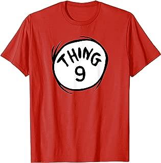Dr. Seuss Thing 9 Emblem RED T-shirt