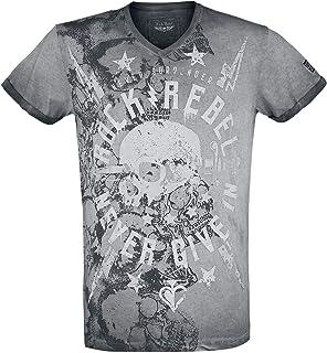 Rock Rebel by EMP Through The Glass Camisa Manga Larga Negro//Gris S
