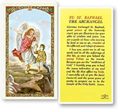 Gifts by Lulee, LLC Prayer to Saint Raphael the Archangel Blessed Laminated Holy Card Imported from Italy