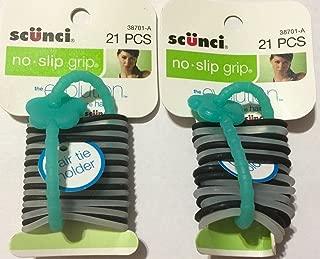 Scunci No Slip Grip Jelly Elastics-38701A,21 count, (Pack of 2)