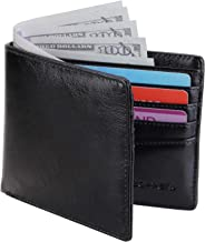 Zoppen Men's Bifold Slim Front Pocket Wallet Card Case With RFID Blocking