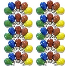 Set van 50 gloeilampen, gekleurd gemengd, 25 W, E27, rood, geel, groen, blauw, oranje