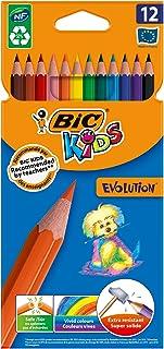 BIC- Kids Evolution, x12 Pack de 12 lápices, multicolor, 829029)