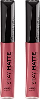 Rimmel Stay Matte Liquid Lip Color, Pink Blink, 2 Count