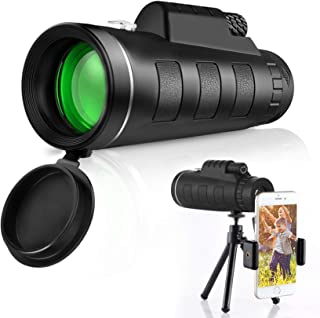 GothicBride Monokulärt teleskop – 12 x 50 High Definition FMC BAK4 【HD Monokular för fågelskådning】 med smartphonehållare ...