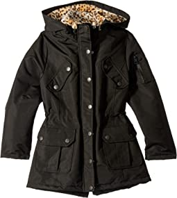 Penelope Ballistic Anorak Coat w/ Animal Faux Fur Lining (Little Kids/Big Kids)