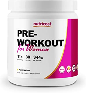 Nutricost Pre-Workout Powder for Women Peach Mango (30 Serv)