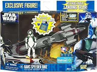 Hasbro 2011 Star Wars Clone Wars : BARC Speeder Bike with Clone Trooper Buzz
