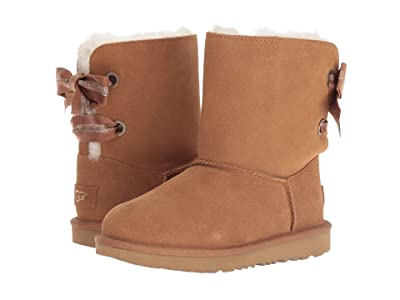 UGG Kids Customizable Bailey Bow II (Little Kid/Big Kid) (Chestnut) Girls Shoes