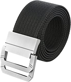 Shanxing Nylon Belts for Men,Military Style Tactical Webbing Belt with Double D Ring Buckle
