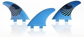 E8 FIN SYSTEM QUILLA Surf FCS Compatible Tri-Set A1 Composite 50% Fibra DE Vidrio. Sistema Fusion Equivalente AM1. Talla L