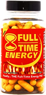 Full-Time Energy Pills - Fat Burners - Best Natural Energy Booster Weight Loss Supplement that Really Works Fast for Both Men and Women - #1 Fat Burner Plus Diet Pills - Weight Loss Products 100 Capsules