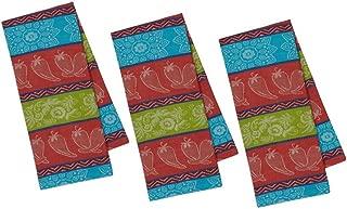 DII Chili Pepper Jacquard Towel - Set of 3