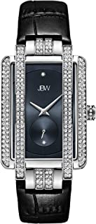 JBW Luxury Women's Mink 12 Diamonds & 280 Swarovski Crystals Croco-Embossed Leather Watch - J6358L-C