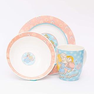 Disney TC 4260 Frozen - Kids Ceramic Tableware - 3 pcs Breakfast Set
