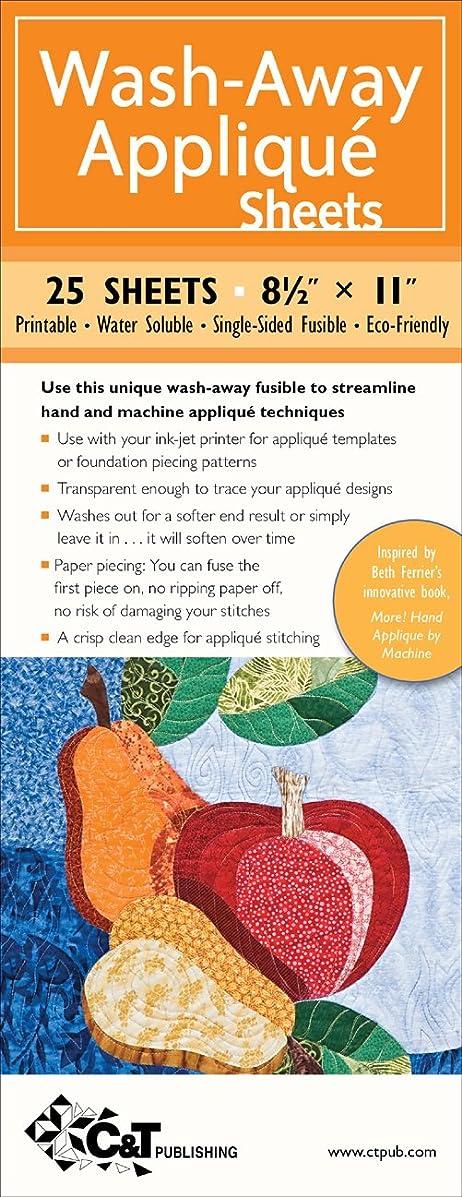 C&T Publishing Wash-Away Applique Sheets, 8-1/2 by 11-Inch, 25-Sheet