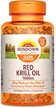Sundown Triple Strength Red Krill Oil 1000 mg, 60 Softgels (Packaging May Vary)