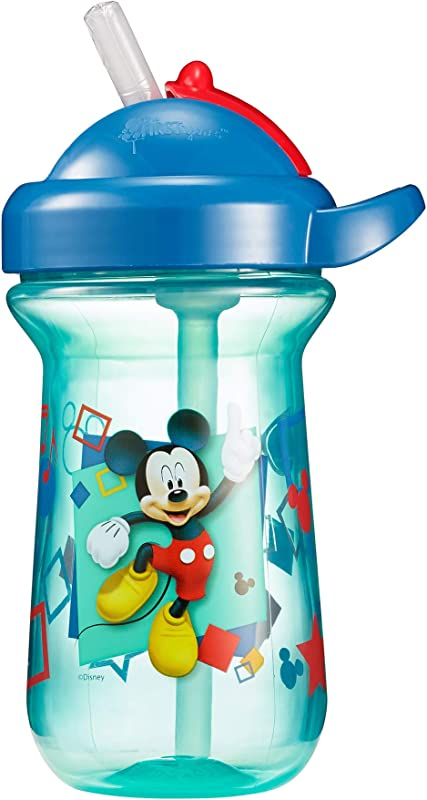 The First Years Baby Mickey Mouse Flip Top Straw Cup 10 Oz 1 Pack