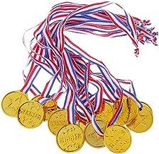 Plastic winnaarsmedailles - Kinderfeestje gunsten Award-linten Gestreepte medaille Lanyards voor schoolsportdag of Mini Ol...