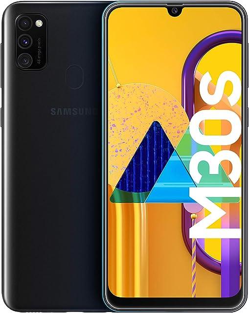 Samsung Galaxy M30s - Smartphone Dual SIM pantalla 16.21 cm sAMOLED FHD+ camara 48MP 4 GB RAM 64 GB ROM bateria 6000 mAH Android negro [Versión española Exclusivo Amazon]