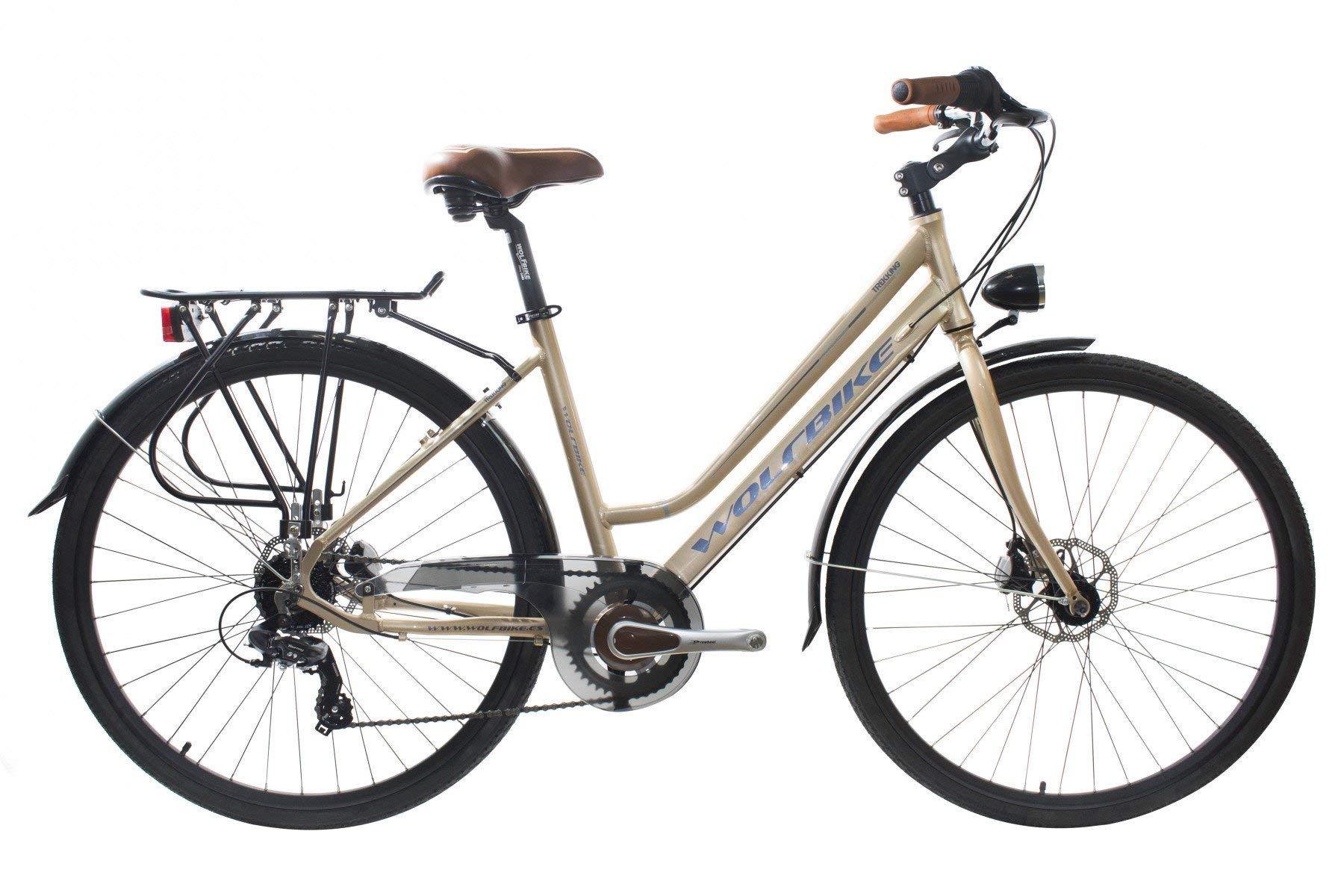 WOLFBIKE Trekking S700 7V DM Marron T18 Bicicleta, Adultos Unisex ...