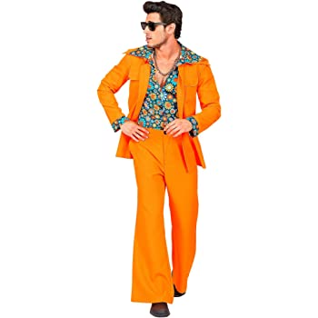WIDMANN 09403 - Disfraz de años 70 para hombre, color naranja ...
