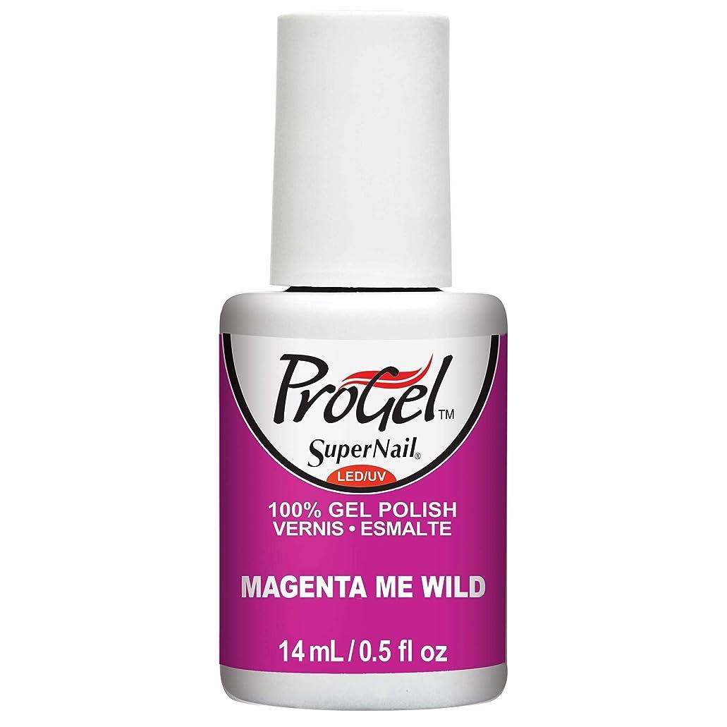 苦徹底的に宣教師SuperNail ProGel Gel Polish - Magenta Me Wild - 0.5oz / 14ml