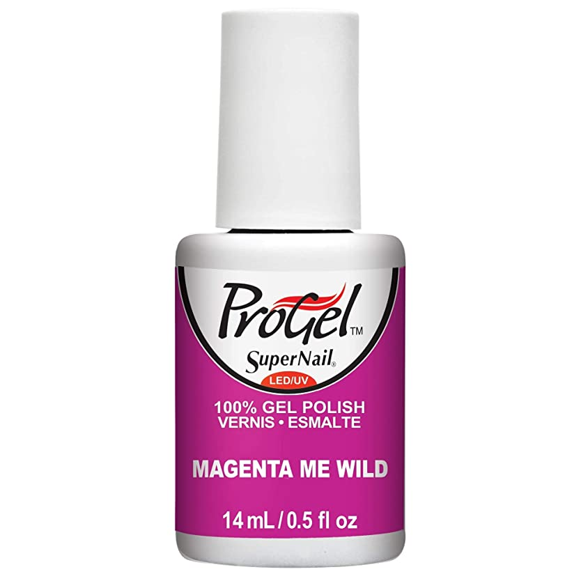 警戒胚尽きるSuperNail ProGel Gel Polish - Magenta Me Wild - 0.5oz / 14ml