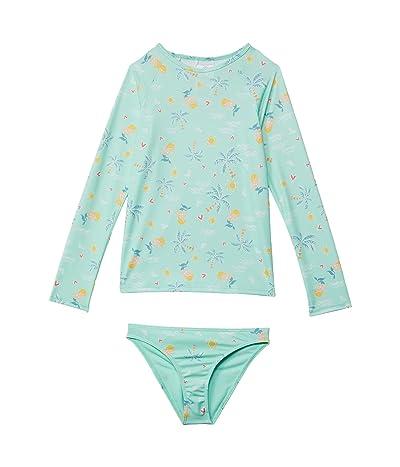 Roxy Kids Mermaid Spirit Long Sleeve Rashguard Set (Toddler/Little Kids/Big Kids)